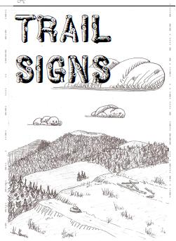 Ink drawn Cover of Trail Sign brochure