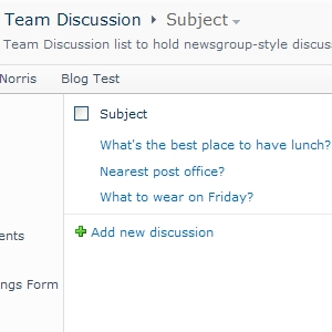 SharePoint Team Discussion